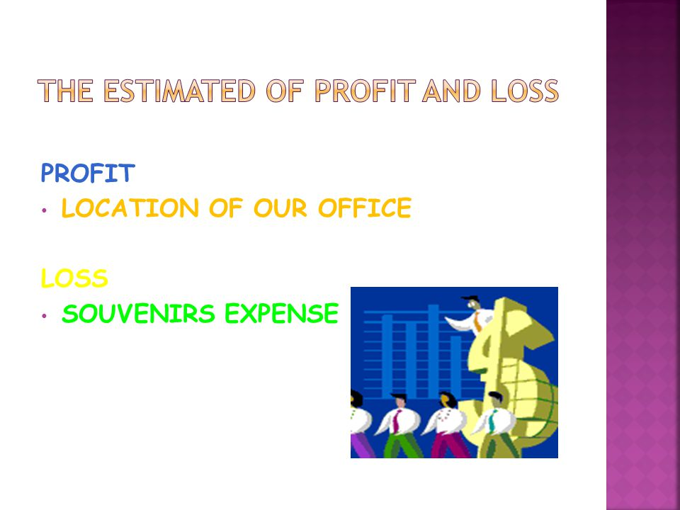PROFIT LOCATION OF OUR OFFICE LOSS SOUVENIRS EXPENSE