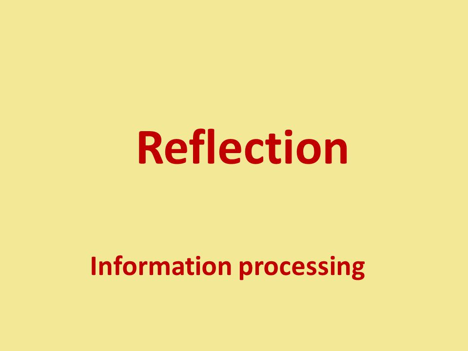 Reflection Information processing