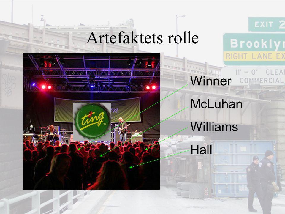 Artefaktets rolle Winner McLuhan Williams Hall
