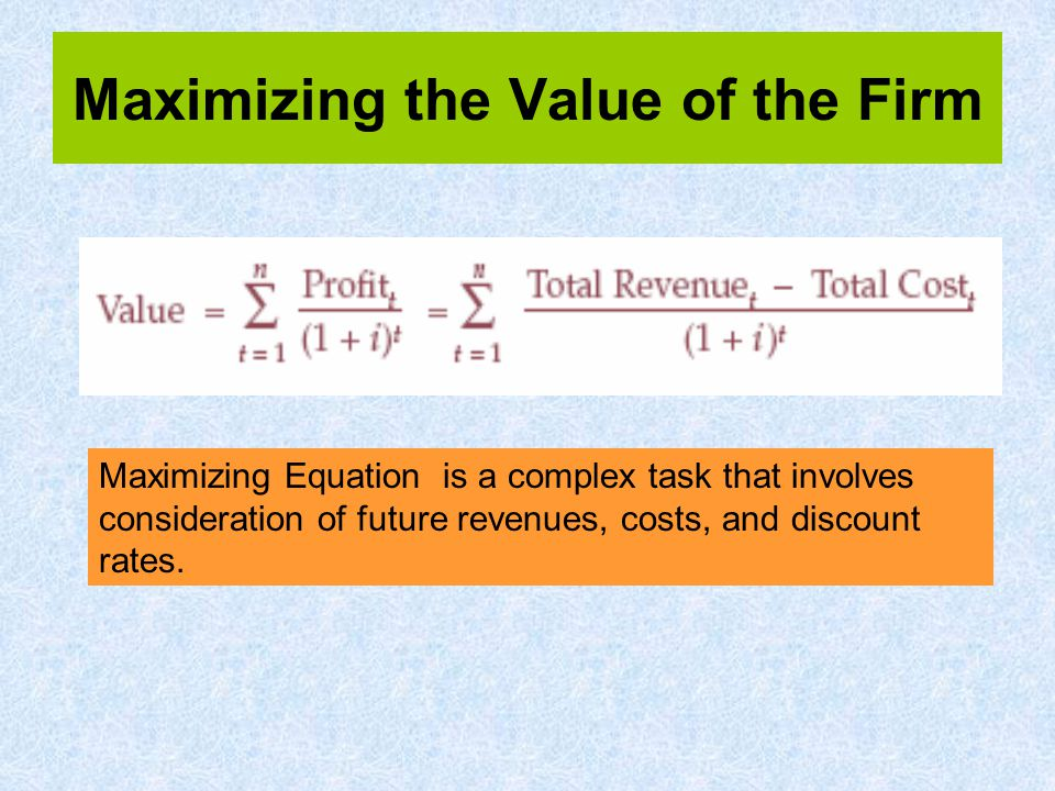 Therefore, it can be said: –Profits are maximized when MC = MR.