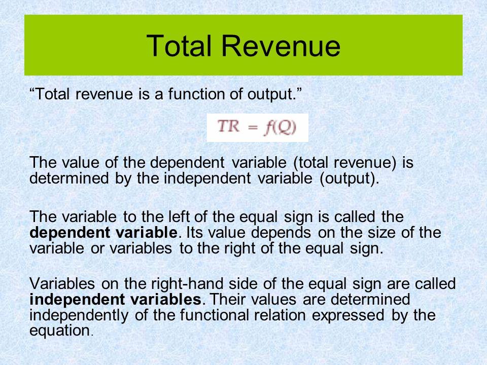 Revenue Maximization Revenue maximization Activity level that generates the highest revenue, MR = 0