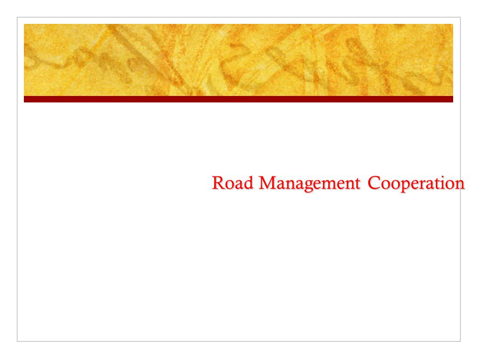 Road Management Cooperation