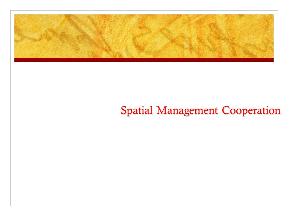 Spatial Management Cooperation