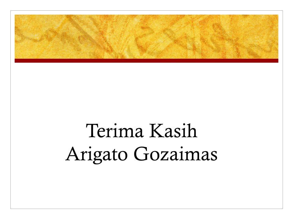 Terima Kasih Arigato Gozaimas