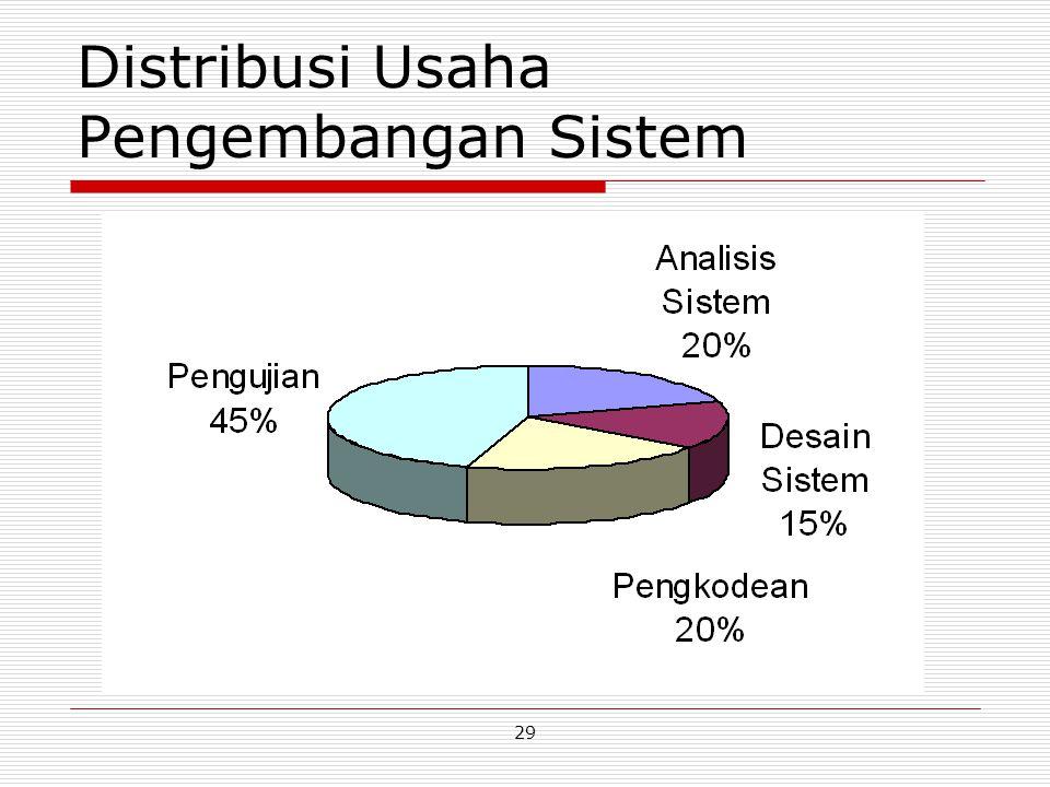 29 Distribusi Usaha Pengembangan Sistem