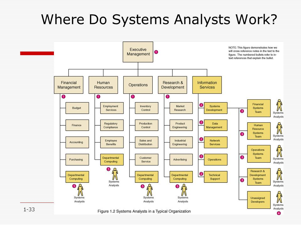1-33 Where Do Systems Analysts Work?