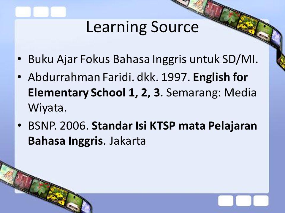 Learning Source Buku Ajar Fokus Bahasa Inggris untuk SD/MI.