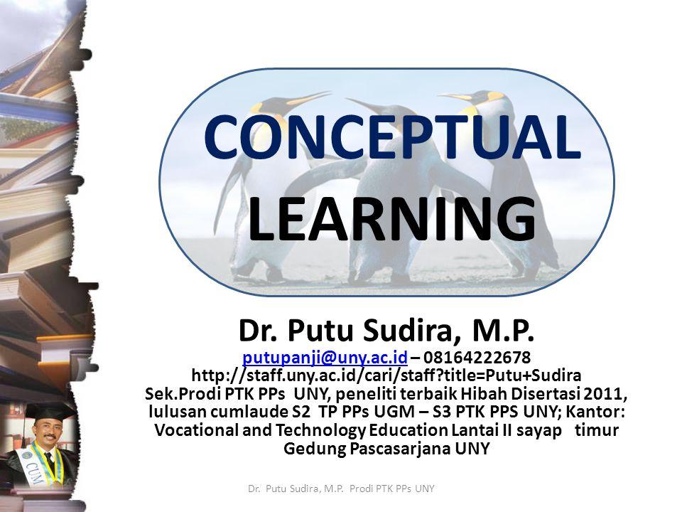 CONCEPTUAL LEARNING Dr.Putu Sudira, M.P.