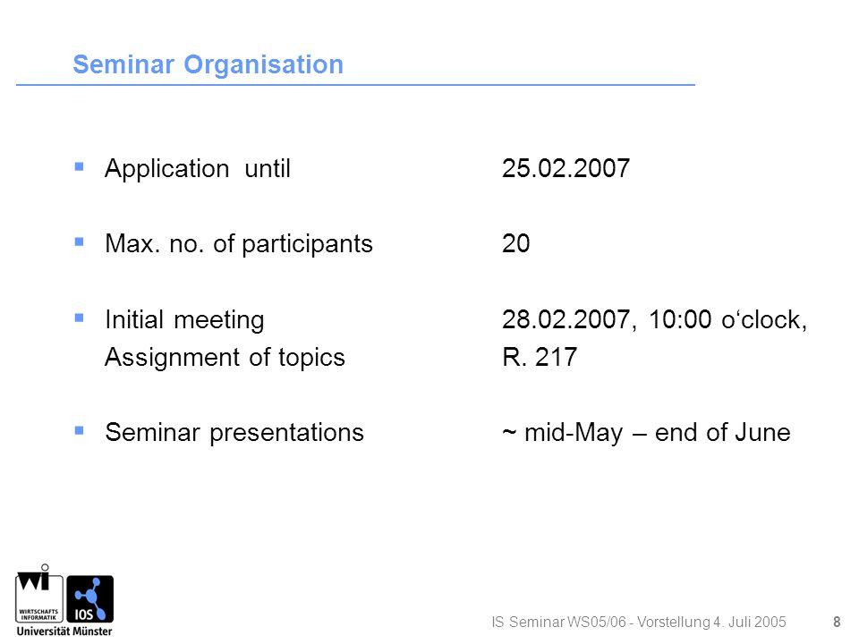 IS Seminar WS05/06 - Vorstellung 4.