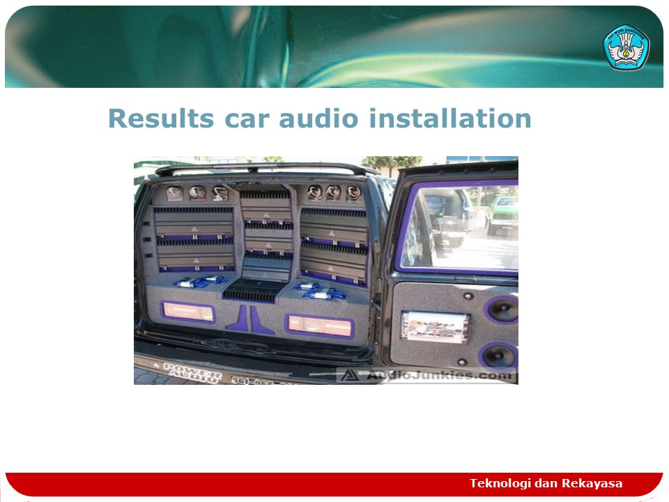 Results car audio installation Teknologi dan Rekayasa