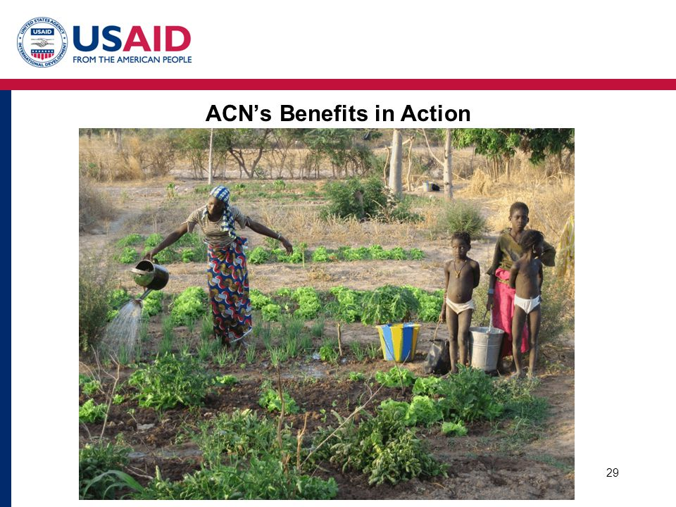 29 ACN's Benefits in Action