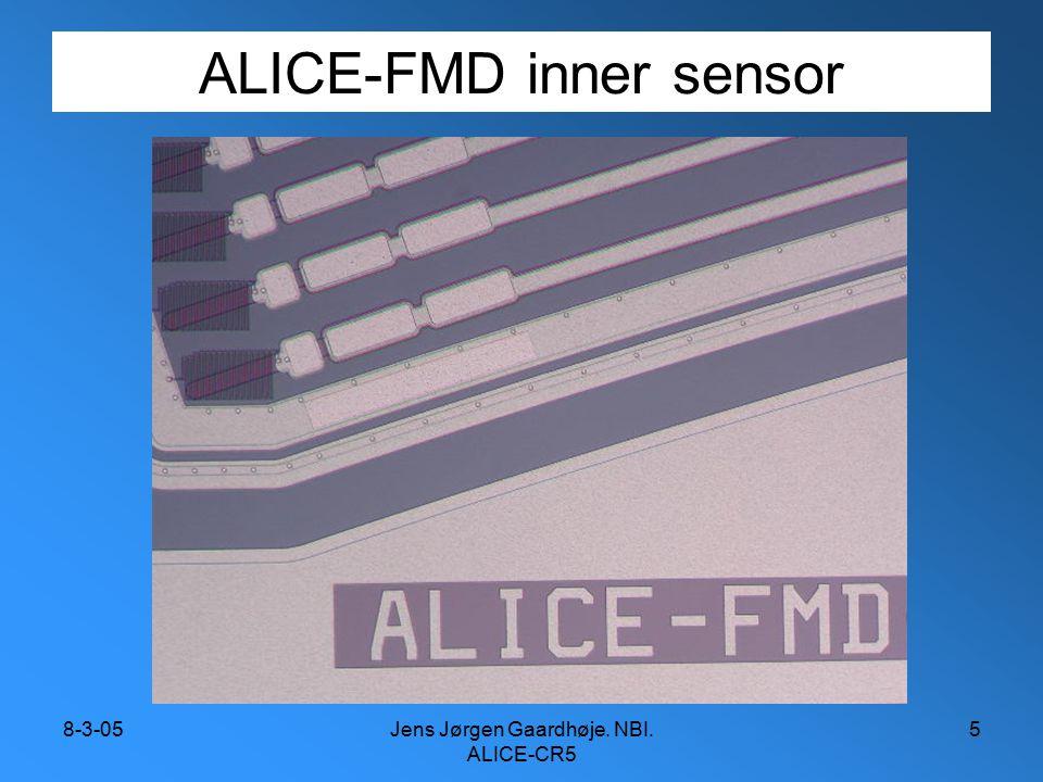 8-3-05Jens Jørgen Gaardhøje. NBI. ALICE-CR5 5 ALICE-FMD inner sensor