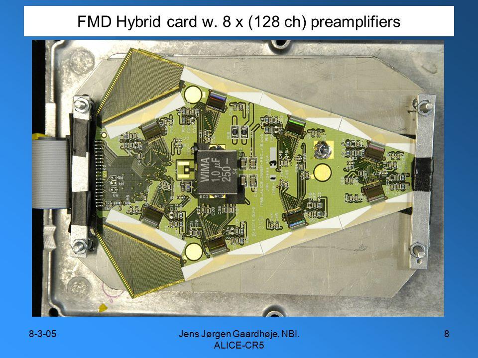 8-3-05Jens Jørgen Gaardhøje. NBI. ALICE-CR5 8 FMD Hybrid card w. 8 x (128 ch) preamplifiers