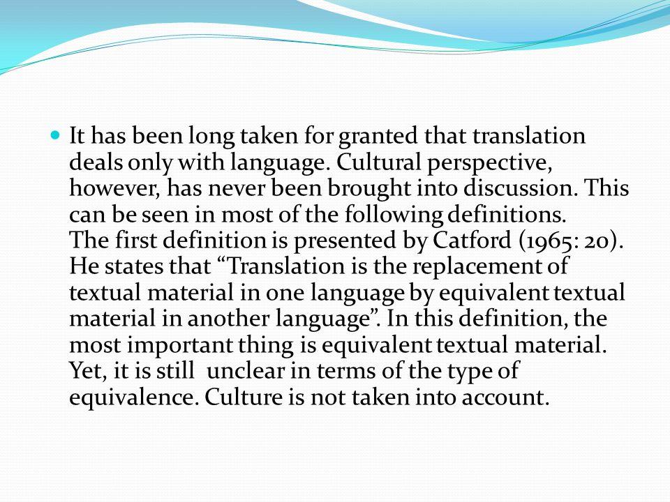 Next, Nida and Taber (1969) explain the process of translating as follows.