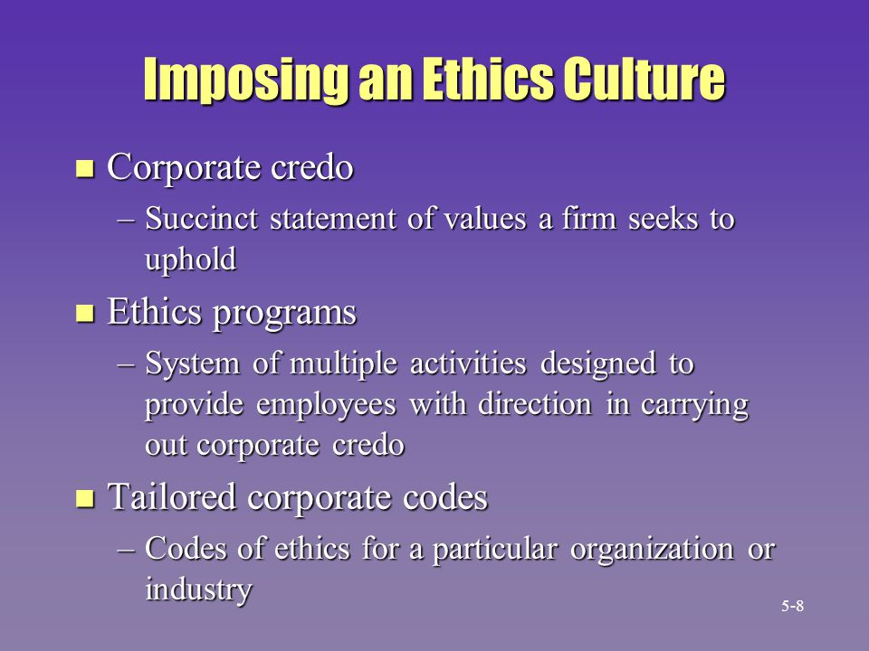 The CIO is Influenced by a Hierarchy of Factors Office of the CIO Laws Corporate ethics culture Socialpressure Professional codes of ethics Personalpressures 5-19