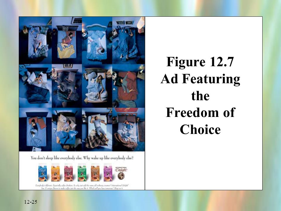 12-25 Figure 12.7 Ad Featuring the Freedom of Choice