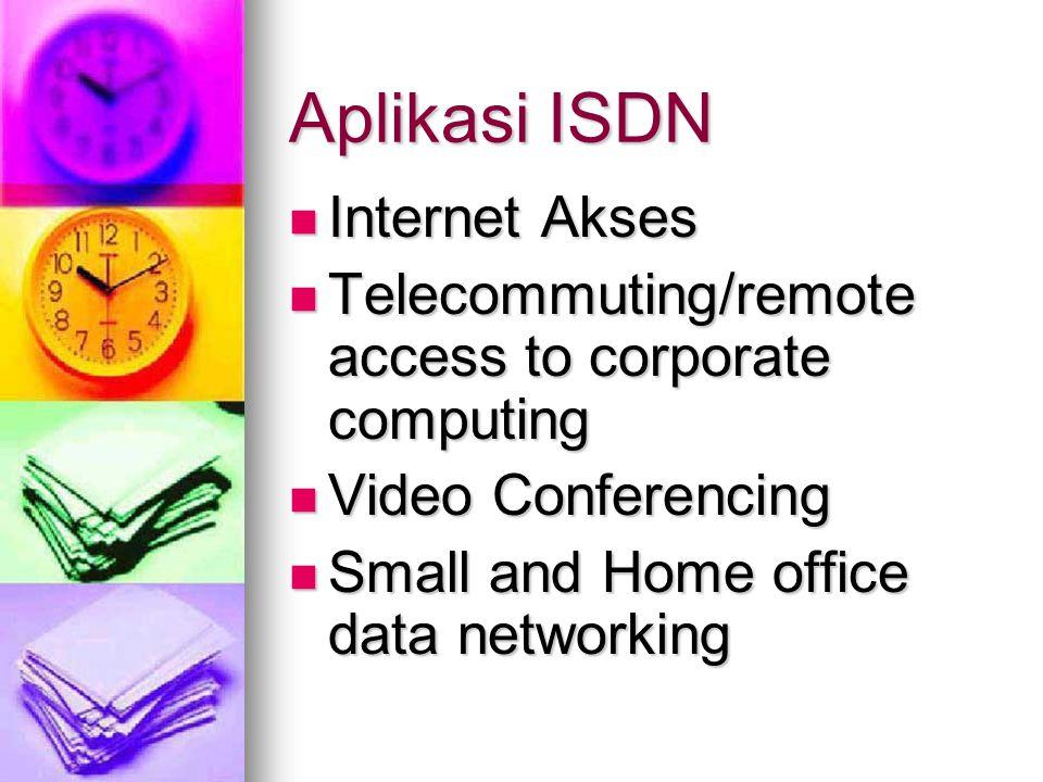 Arsitektur ISDN (cont.) Tabel jenis-jenis pelayanan