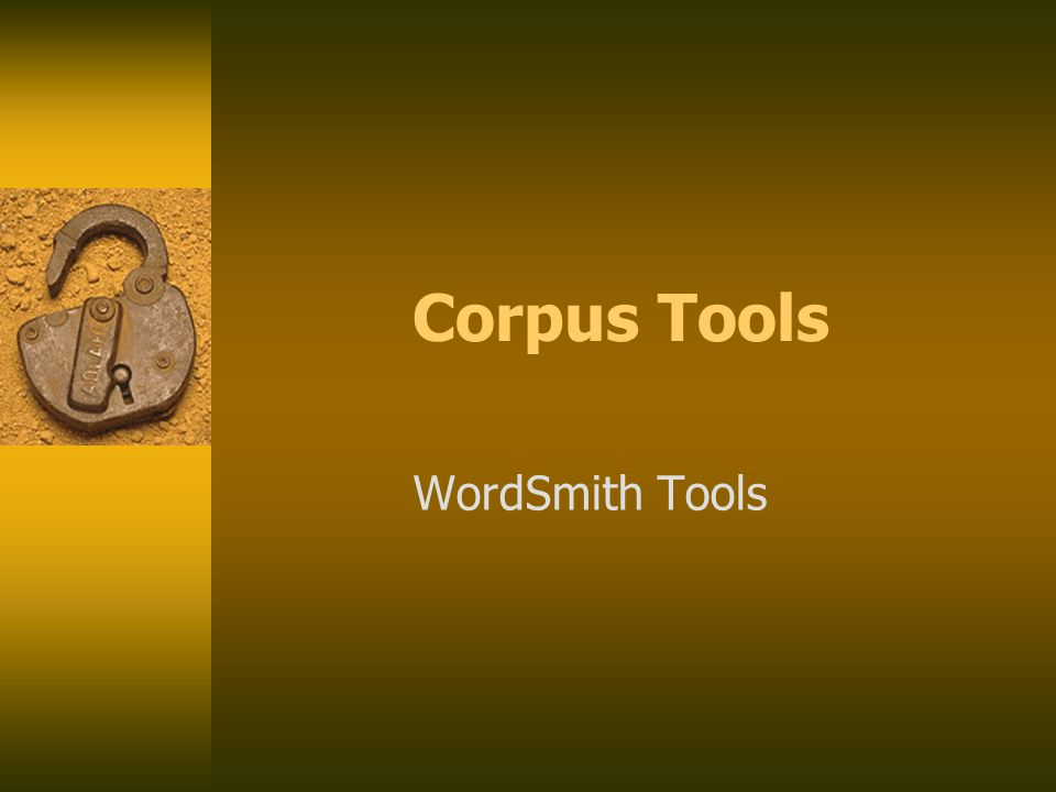 Corpus Tools WordSmith Tools