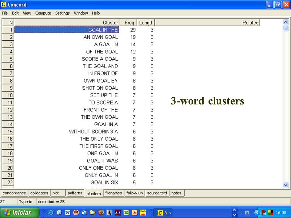3-word clusters