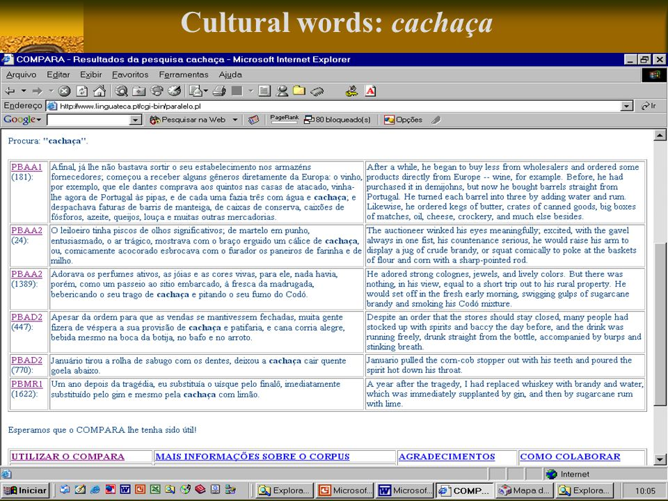Cultural words: cachaça