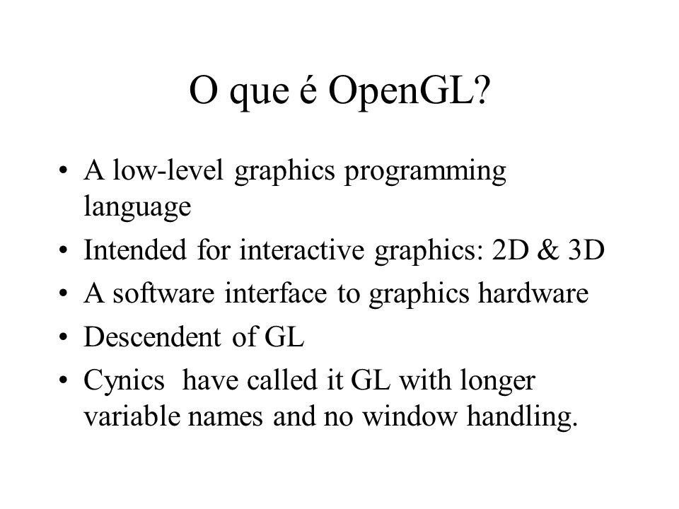 O que é OpenGL.