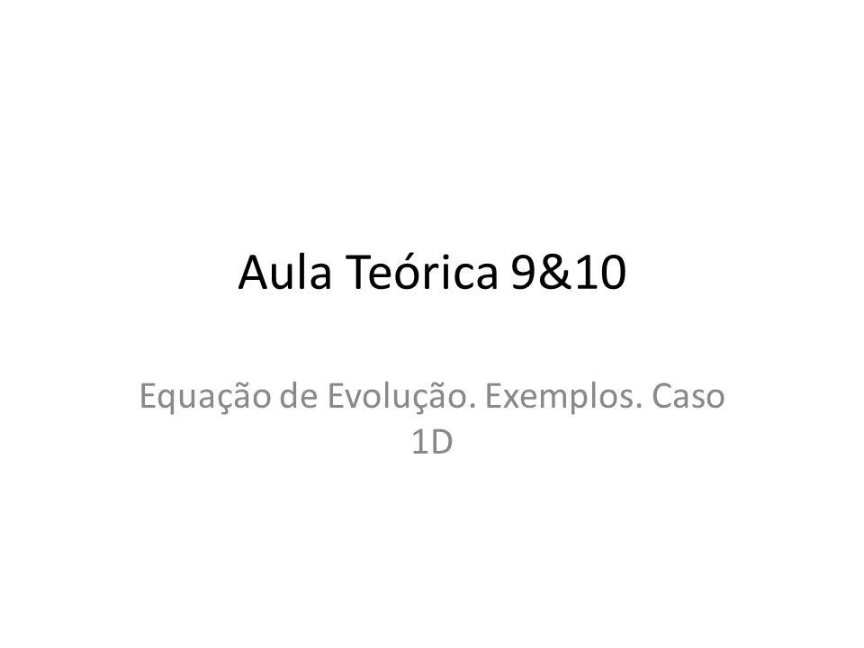 Aula Teórica 9&10 Equação de Evolução. Exemplos. Caso 1D