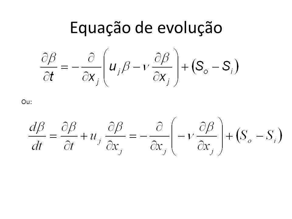 Equação de evolução Ou: