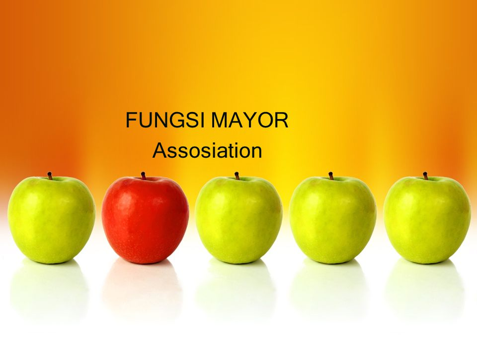 FUNGSI MAYOR Assosiation