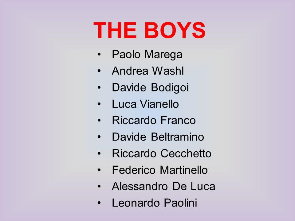 THE BOYS Paolo Marega Andrea Washl Davide Bodigoi Luca Vianello Riccardo Franco Davide Beltramino Riccardo Cecchetto Federico Martinello Alessandro De Luca Leonardo Paolini