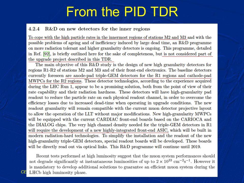 From the PID TDR CERN, 21/2/2014A. Cardini / INFN Cagliari