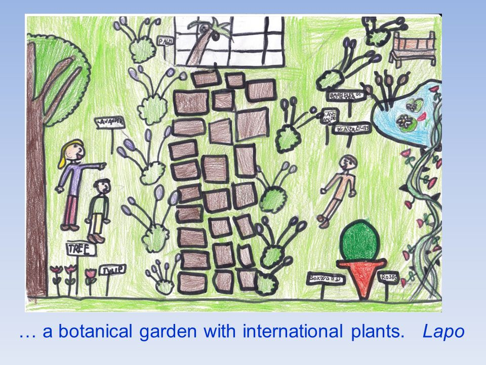 … a botanical garden with international plants. Lapo