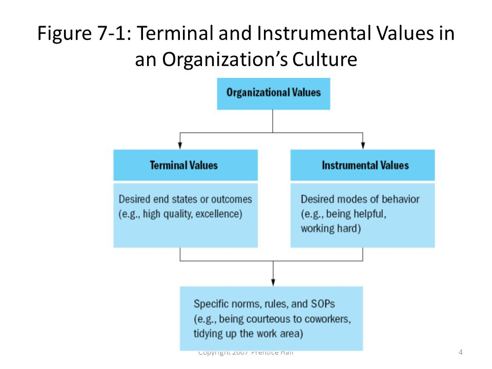 Copyright 2007 Prentice Hall4 Figure 7-1: Terminal and Instrumental Values in an Organization's Culture