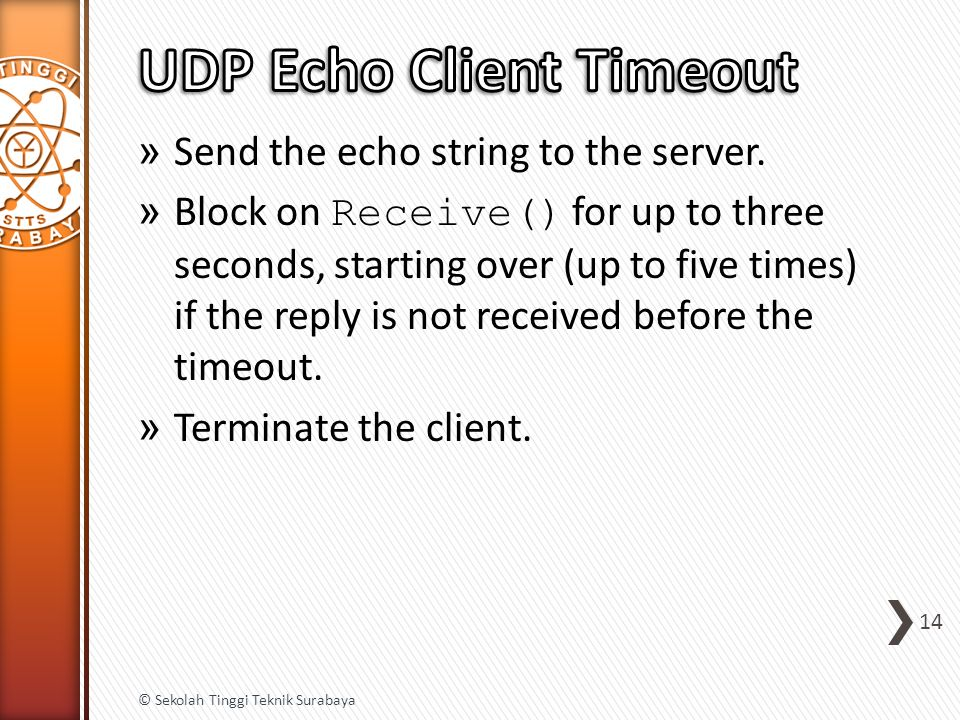 » Send the echo string to the server.
