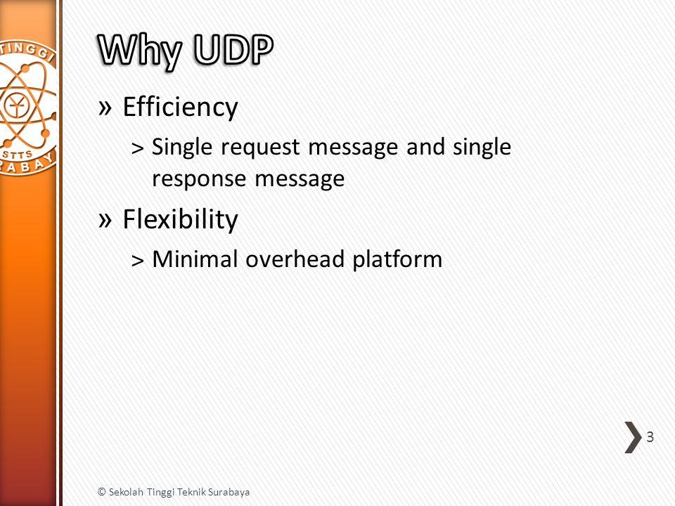 » Efficiency ˃Single request message and single response message » Flexibility ˃Minimal overhead platform 3 © Sekolah Tinggi Teknik Surabaya
