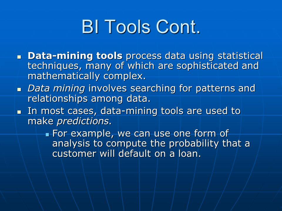 BI Tools Cont.