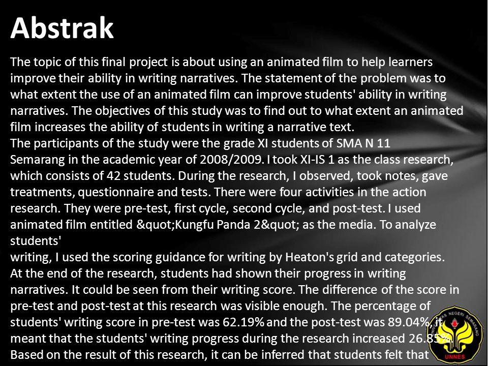 Kata Kunci writing narratives, an animated film.