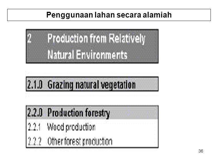 36 Penggunaan lahan secara alamiah