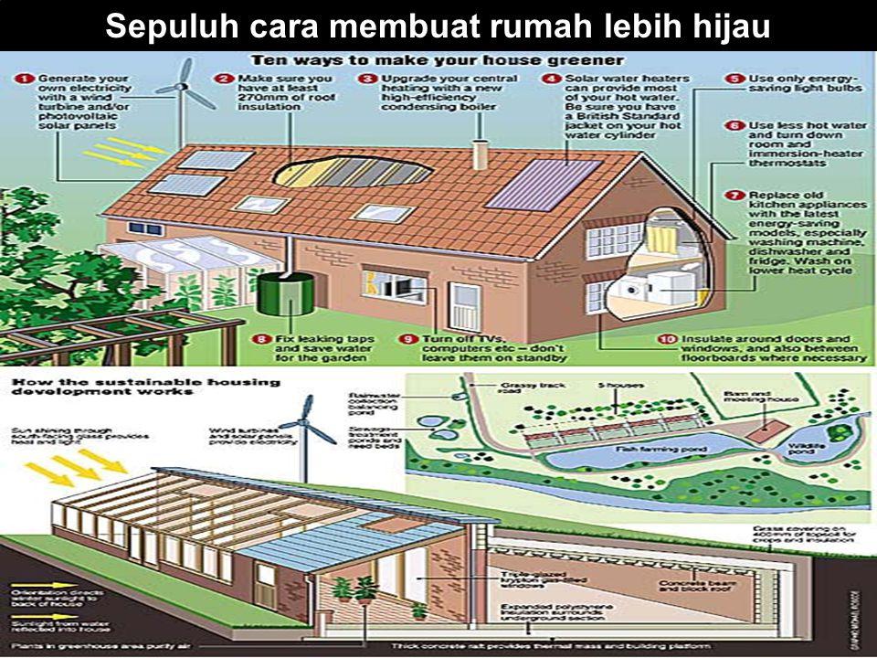Sepuluh cara membuat rumah lebih hijau