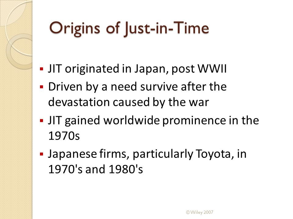 Comparison: Conventional vs JIT Systems