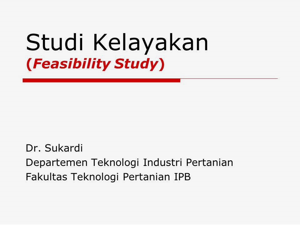 Studi Kelayakan (Feasibility Study) Dr.