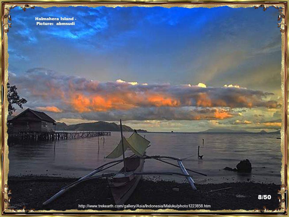http://en.wikipedia.org/wiki/File:Halmahera_Island,_North_Maluku,_Indonesia_4.jpg Halmahera Island - Picture: Eustaquio Santimano 7/50