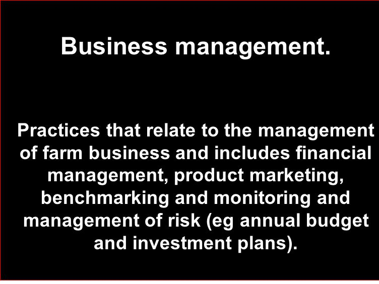 Business management.
