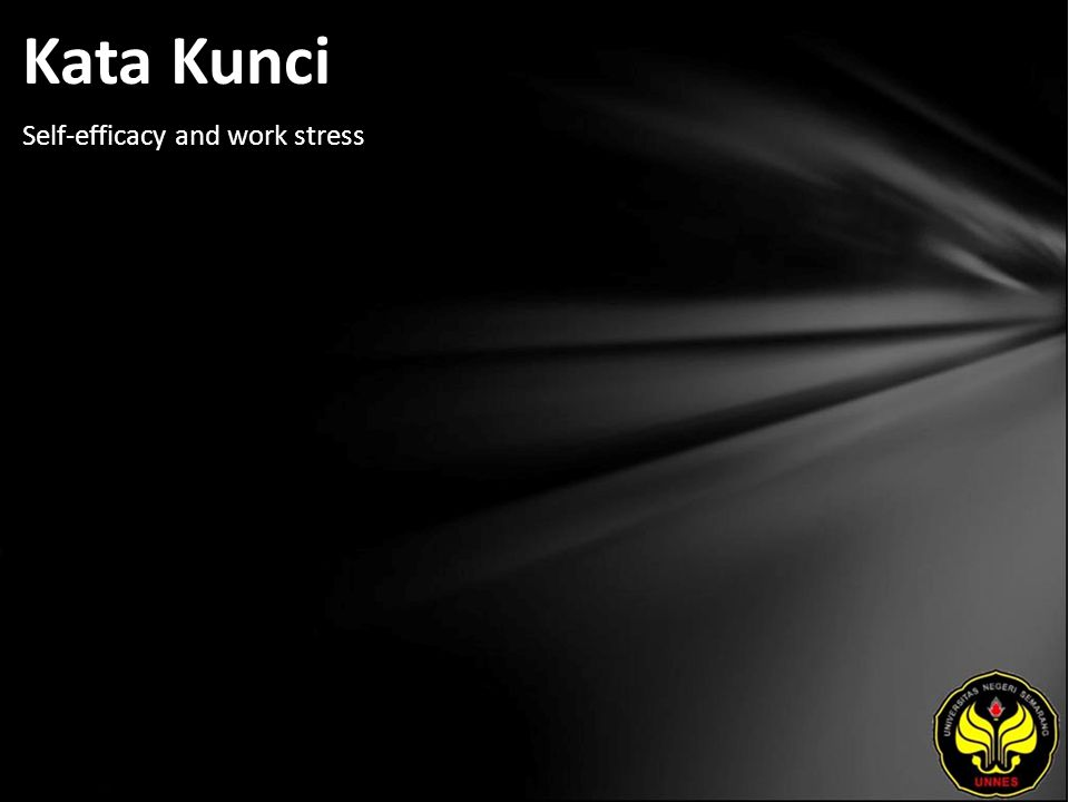 Kata Kunci Self-efficacy and work stress