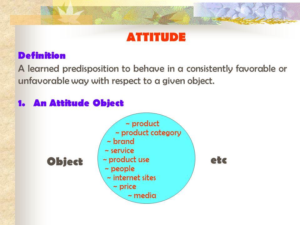 Assignment 1.Prepare ideas for object of attitude Object Behavior Ad 2.
