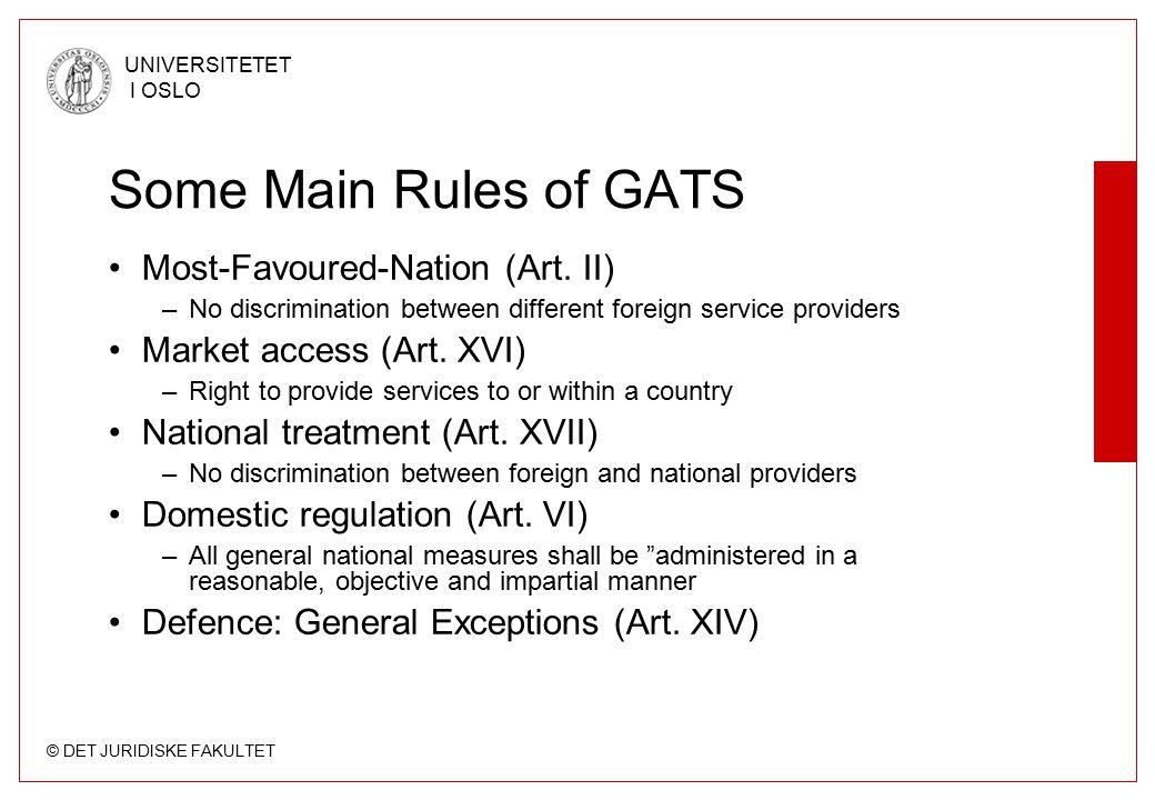 © DET JURIDISKE FAKULTET UNIVERSITETET I OSLO The Measures A total prohibition as a measure.