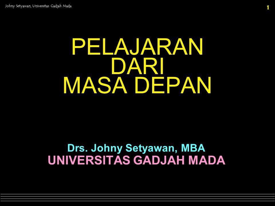 Johny Setyawan, Universitas Gadjah Mada 22 The unknown is the realm of all possibilities.