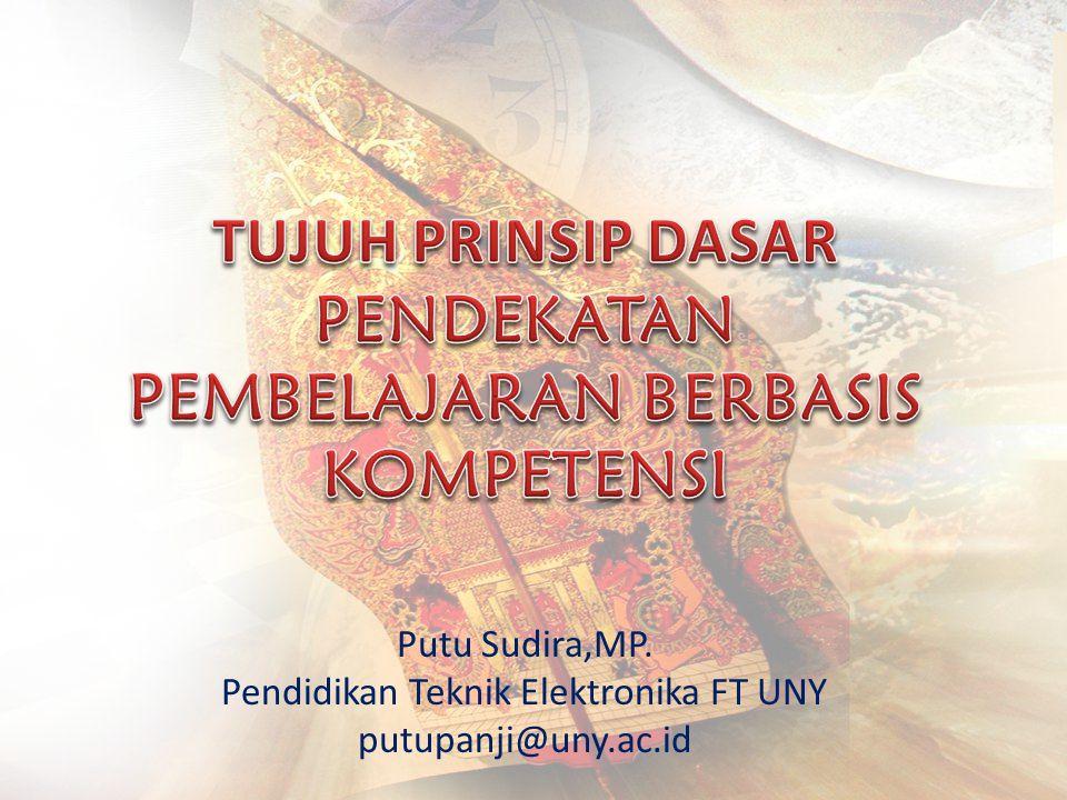 Putu Sudira,MP. Pendidikan Teknik Elektronika FT UNY putupanji@uny.ac.id