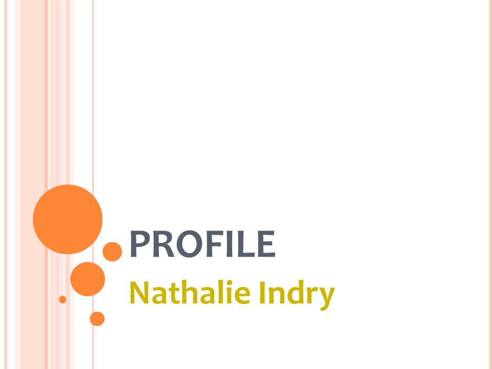 PROFILE Nathalie Indry