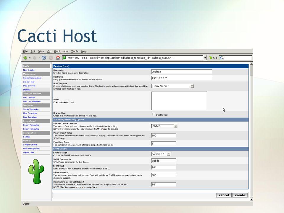 Cacti Host
