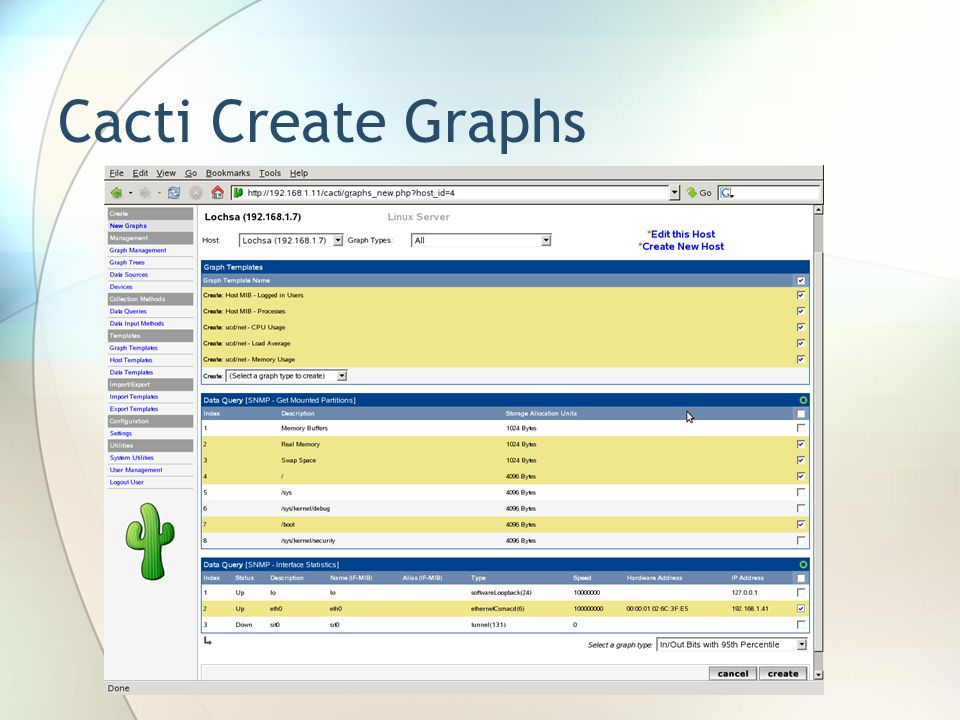 Cacti Create Graphs